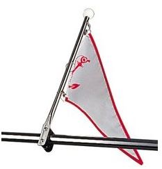 Flag/Pennant Staff, Bow Rail