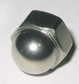 Stainless Steel Cap Nuts Fine Thread 10 Ct 3 8 24