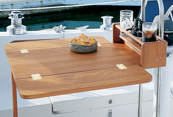 Folding Teak Cockpit Table Bosun Supplies Bosun Supplies