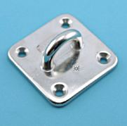 """Stainless Steel Heavy Duty Square Pad Eye 3"""" x 3"""""""