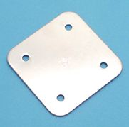 """Stainless Steel H. D. Square Pad Eye Backing Plate 3"""" x 3"""""""