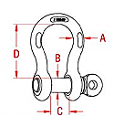"""1"""" US Anchor Shackle W/ Screw Pin"""
