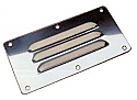 "Stainless Steel Louvered Vents  2-1/2"" x 5"""