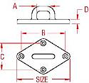 Stainless Steel Heavy Duty Diamond Pad Eye 3 1/4