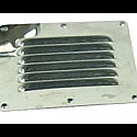 "Stainless Steel Louvered Vents  4-1/2"" x 5"""