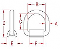 "1"" Weld-on Lashing Ring"