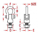 """1"""" Anchor Base with Shackle"""