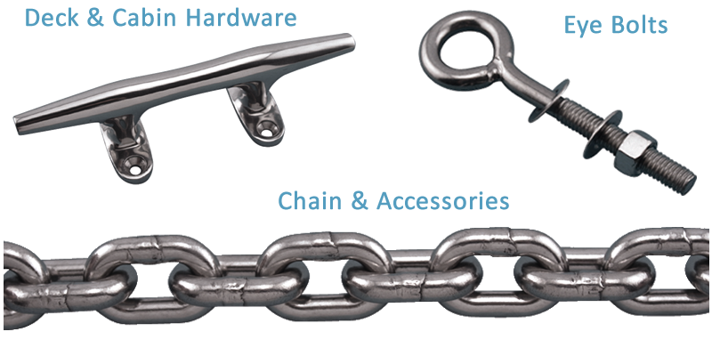 BOSUN SUPPLIES - Stainless Steel Anchors Deck Hardware Chain ...